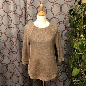 Chico's Tan Scoop Neck Sweater Chico's Size 0